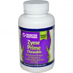 Houston Enzymes Zyme Prime Pomegranate Raspberry 180 Chewable Tablets