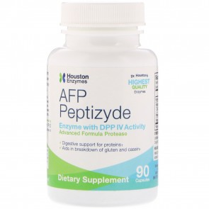 Houston Enzymes AFP-Peptizyde with DPP IV Activity 90 Capsules