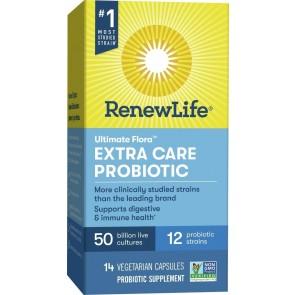 Renew Life Extra Care Ultimate Flora 50 Billion 14 Vegetable Capsules