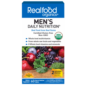 real food organics mens daily vitamin