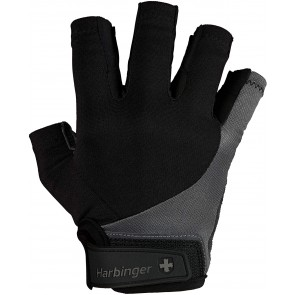Harbinger BioFlex Real Leather Black/Gray (Small)