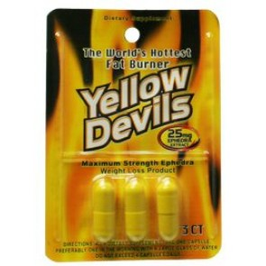 American Generic Labs AGL Yellow Devils 25mg 3 capsule count Free