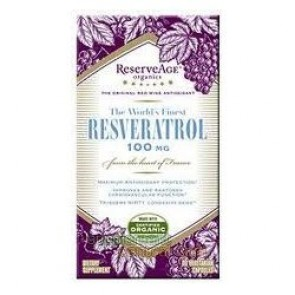 Reserveage Organics Resveratrol, 100 mg, Veggie Capsules - 60 capsules
