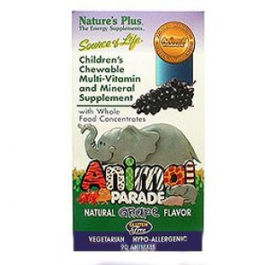 Natures Plus Animal Parade Grape 90 Tablets