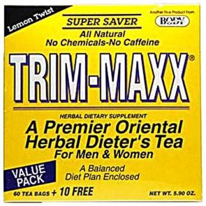 Body Breakthrough Trim-Maxx Tea for Men and Women Lemon Twist  70 Tea Bags