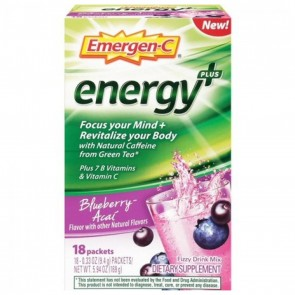 Emergen C Energy Fizzy Drink Mix Packets Blueberry Acai