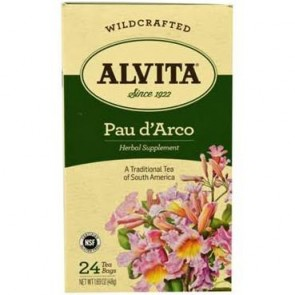 Alvita Organic Pau D'Arco Tea ‑ 24 bags, 1.69 oz box