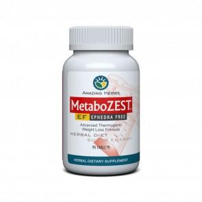 Amazing Herbs MetaboZest Ephedra Free 90 Tablets