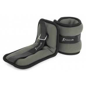 ProsourceFit Ankle Weights 2 lb Set of 2 Grey