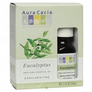 Aura Cacia Essential Oil Exhilarating Eucalyptus 0.5 oz.