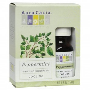 Aura Cacia Essential Oil Cooling Peppermint 0.5 oz. (15 mL)
