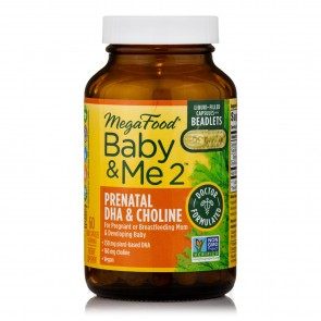 MegaFood Baby & Me 2 Prenatal DHA & Choline 60 Liquid Capsules