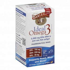 Barlean's Ideal Omega 3 Orange Flavored  30 Softgels
