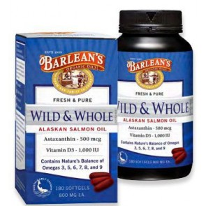 Barlean's Fresh & Pure Wild & Whole Alaskan Salmon Oil