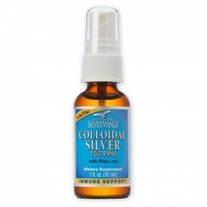 Colloidal Silver With Olive Leaf Spray 150 PPM