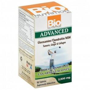 Bio Nutrition Advanced Glucosamine/Chondroitin/MSM Plus Tumeric, Ginger, & Collagen - 90 tablets