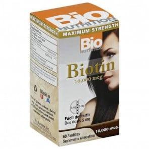 Bio Nutrition Biotin 10,000 mcg. 60 Easy Snap Tablets