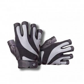 BioFlex Real Leather Glove Black/Gray by Harbinger