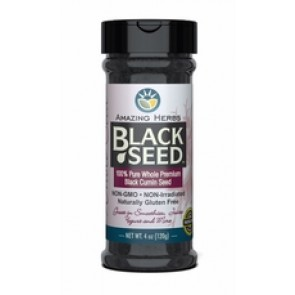 Amazing Herbs Black Seed 100 Pure Whole Premium Black Cumin Seed 4 oz | Black Seed 100 Pure Whole Premium Black Cumin Seed 4 oz