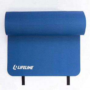 Lifeline Powered By Innovation Exercise Mat Pro 5/8 Dual Texture Mat Blue