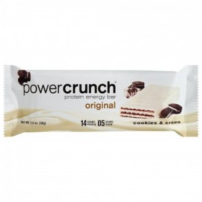 BNRG, Power Crunch Protein Energy Bar, Cookies and Crème, 1, 1.4 oz (40 g) Each