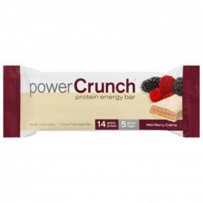 BNRG, Power Crunch Protein Energy Bar, Wild Berry Creme, 1, 1.4 oz (40 g) Each