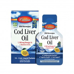 Carlson Cod Liver Oil Liquid Packets