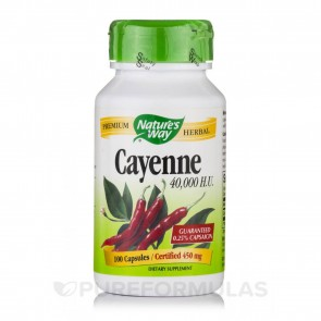 Nature's Way Cayenne 40,000HU 100 Capsules