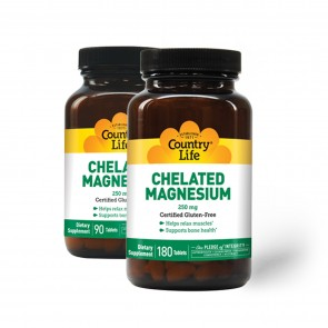 Country Life Chelated Magnesium 250 mg