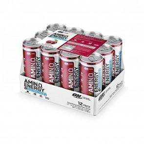Optimum Nutrition Amino Energy Sparkling + Electrolytes Cherry (12 RTD Drinks)