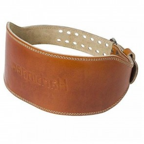"Leather WeightLifting Belt Harbinger Classic 6"" Oiled"