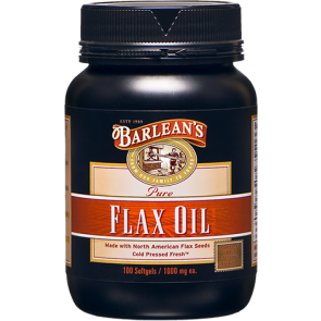Barlean's Flax Oil 1,000 mg 100 Softgels
