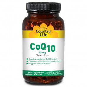 CoQ10 60 mg 60 Vegetarian Softgels by Country Life