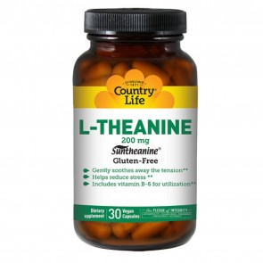 Country Life - L-Theanine Suntheanine Amino Acid - 30 Vegetarian Capsules Promotes Relaxation