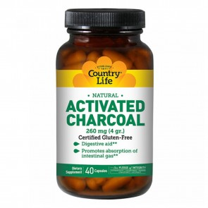Country Life Charcoal 260 mg 40 Capsules