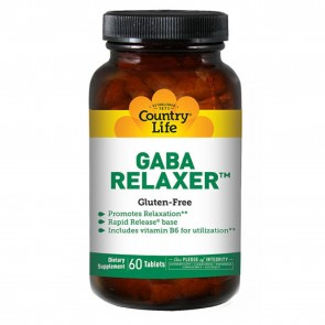 Country Life GABA relaxer with B-6 Rapid Release 60 Tablets