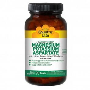 Country Life Magnesium Potassium Aspartate 90 Tabs