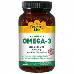Country Life Natural Omega-3 50 Softgels