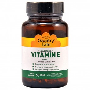 Country Life Natural Vitamin E 400 IU 60 Softgels