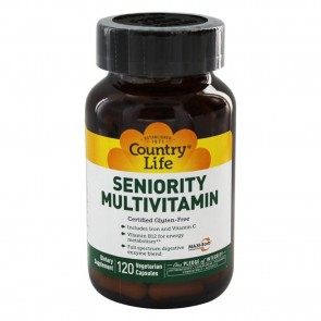 Country Life Seniority Multivitamin with Digestive Enzymes 60 Vegetarian Capsules
