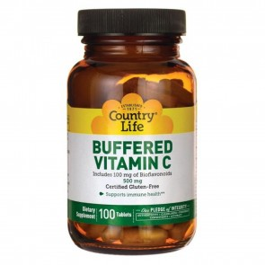 Country Life Buffered Vitamin C with Bioflavonoids 100 Tablets