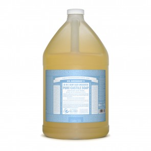 Dr. Bronner Pure Castille Liquid Soap Baby Mild 1 gallon (128 oz)