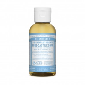 Dr. Bronner's Pure Castile Liquid Organic Soap Baby Unscented 2 oz