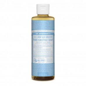 Dr. Bronner's Pure Castile Liquid Organic Soap Baby Unscented 8 oz