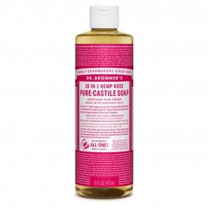 Dr. Bronner's Pure Castile Soap Hemp Rose 16 oz