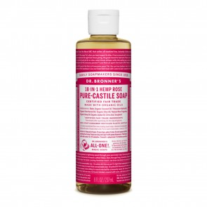 Dr. Bronner's Pure Castile Liquid Organic Soap Hemp Rose 8 oz