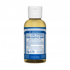 Dr. Bronner's Pure Castile Liquid Soap Peppermint 2 oz