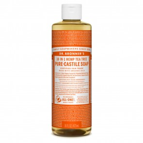 Dr. Bronner's Pure Castile Liquid Soap Tea Tree 16 oz