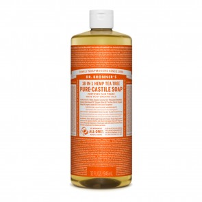 Dr. Bronner's Pure Castile Liquid Organic Soap Tea Tree 32 oz