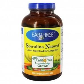 Earthrise Spirulina Natural 600 mg 300 Capsules